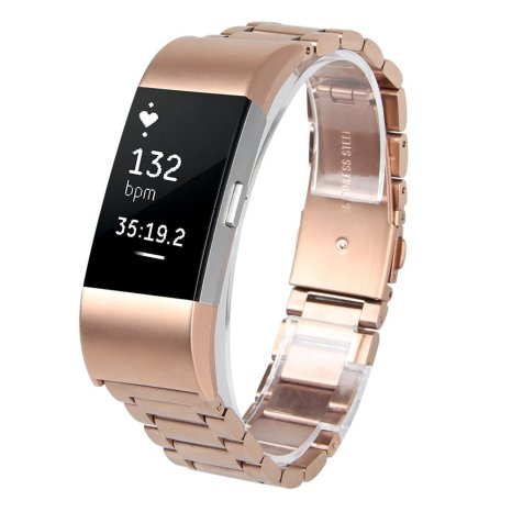 Rose-Gold-Replacement-wrist-Band-for-Fitbit-Charge-2-Solid-Stainless-Steel-Adjustable-Band-for-Fitbit